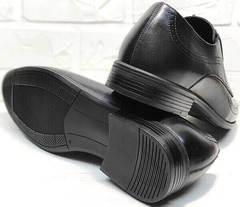 Удобные туфли мужские осень Ikoc 3416-1 Black Leather.