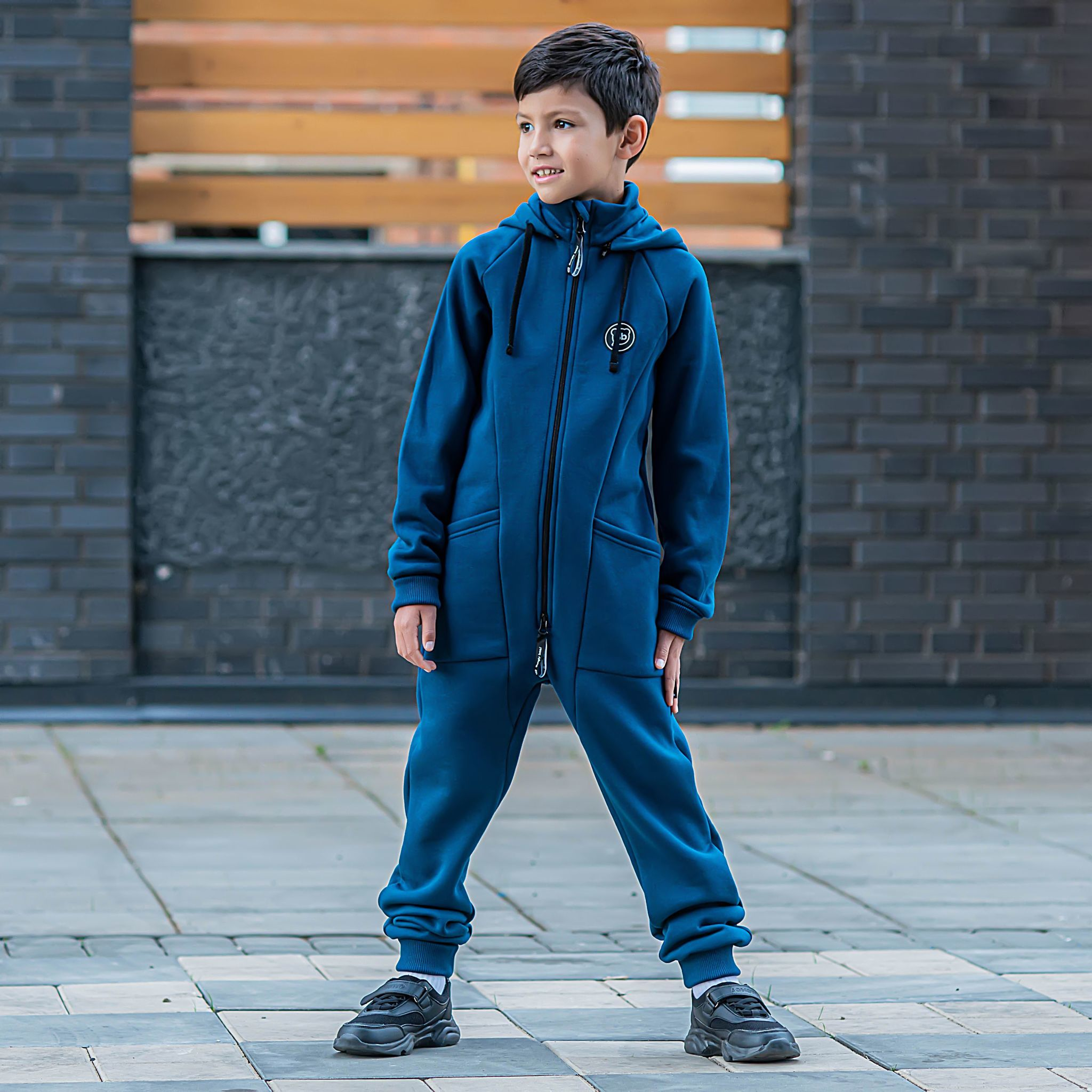 Transformer jumpsuit without flap for teens - Petrol Blue