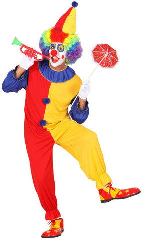 Костюм карнавальный взрослый Клоун в колпаке