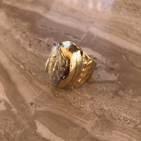 Кольцо Денека, позолота