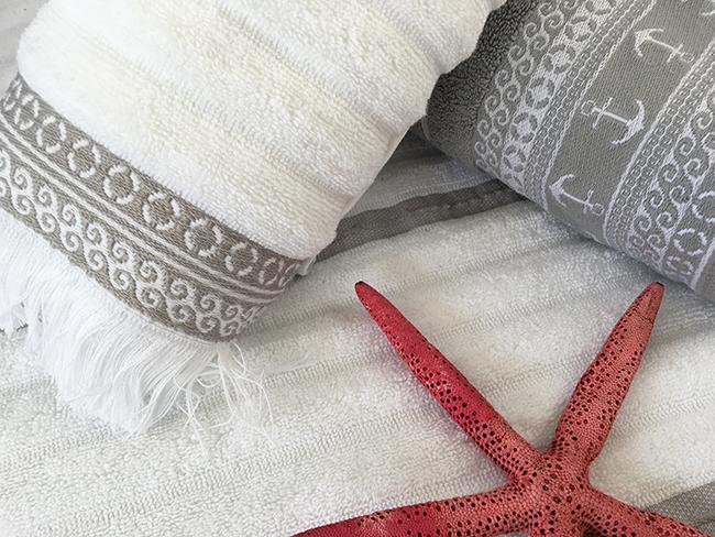 Santorini towel set / white