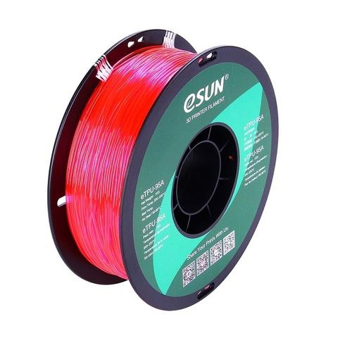 ESUN eTPU95A, 1.75 мм, 1 кг, прозрачно розовый