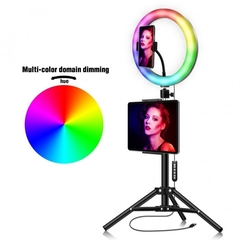 Multi color dimmable ring lamp