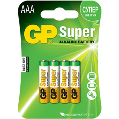 Батарейки GP 24A-U4 Alkaline LR03, ААA, 4шт блистер 40/320