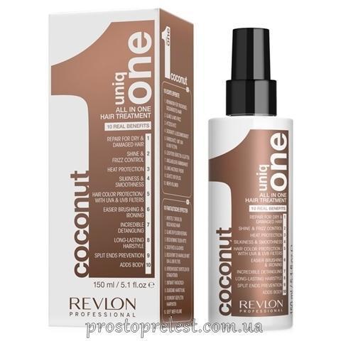 Uniq ONE ALL IN ONE HAIR TREATMENT - Маска-спрей для волосся з ароматом кокоса