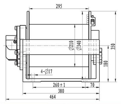 Эвакуационная лебедка IYJ2.52.5-40-72-13-ZPNA