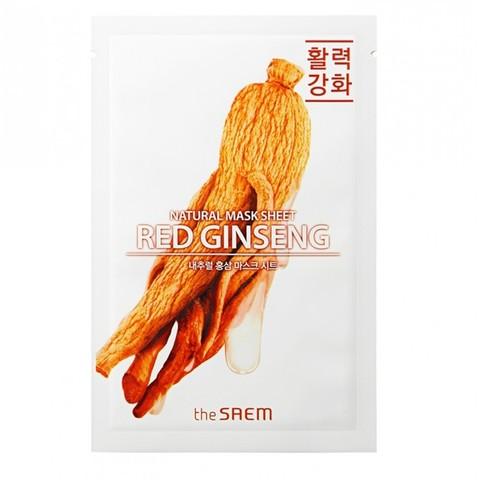 СМ Маска на тканевой основе для лица N с экстрактом женьшеня Natural REd Ginseng Mask Sheet 21мл