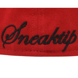 Бейсболка New Era king красная фото логотипа сзади