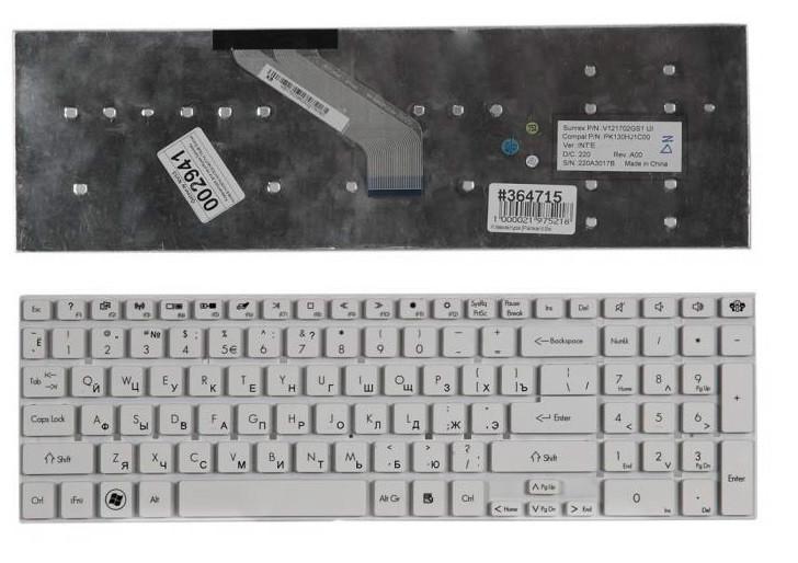 Клавиатура для ноутбука Packard Bell Easynote TV11CM, TV11HC, LV11HC, LS11HR, LS11SB, LS13SB, LS13HR, LS44HR, LV44HC, TS11HR, TS11SB, TS44HR, TS44SB, TS45НR, TV43CM, TV44CM, TSX62HR, P5WS0, P7YS0, F4211, Gateway NV55, NV75