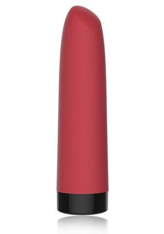 Красный мини-вибратор Awaken со скошенным кончиком - 10 см.