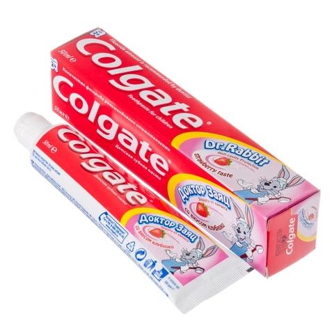 Зубная паста COLGATE Доктор Заяц Клубника 50 мл