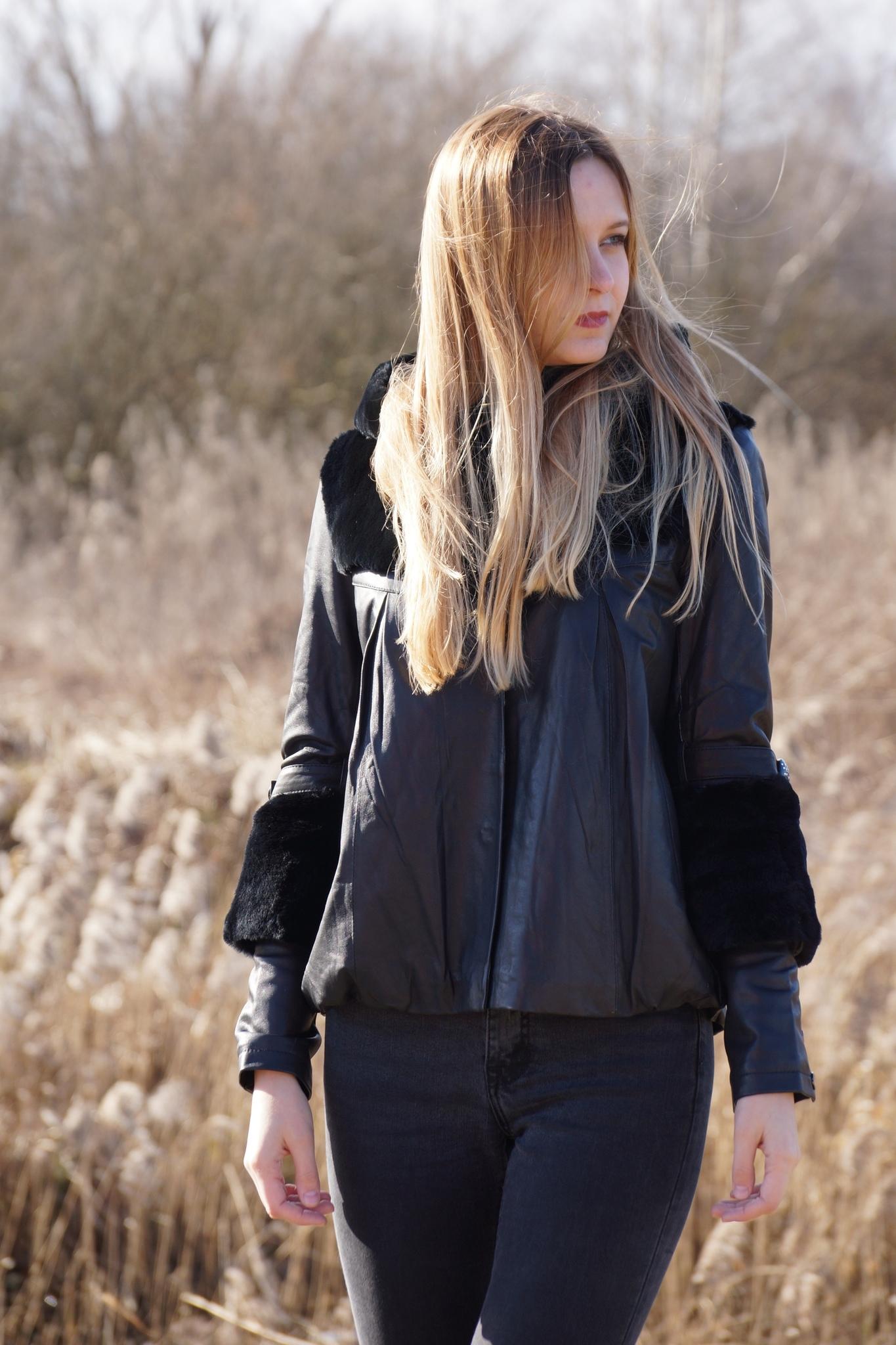 Кожаная куртка-болеро ViVi