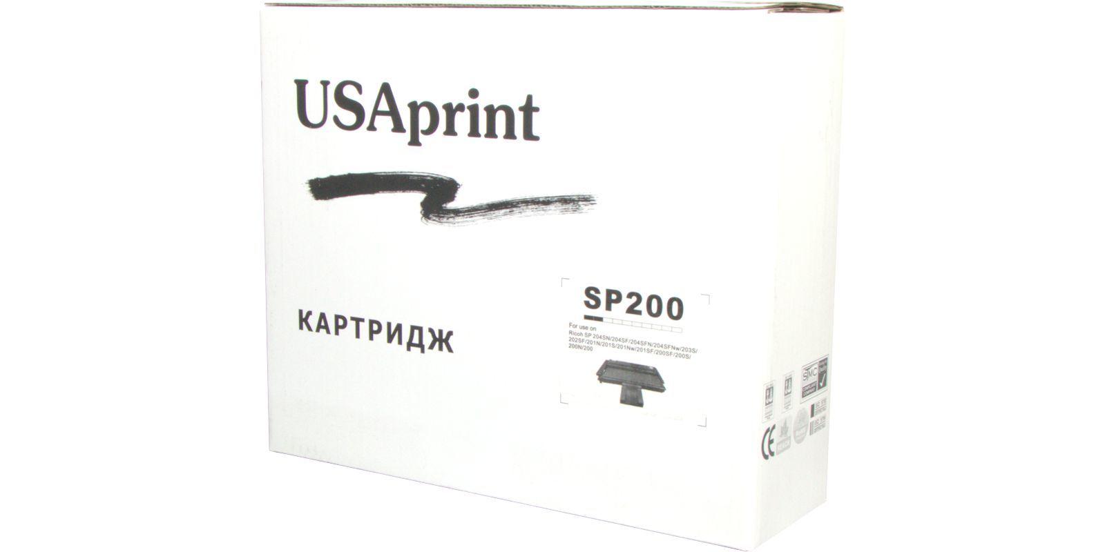 Картридж лазерный USAprint SP200 черный (black), до 2600 стр.