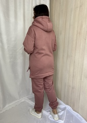 Нора. Теплий костюм з трьохнитки великих розмірів. Фрезовий