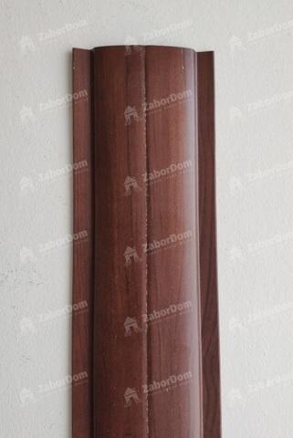 Евроштакетник металлический 102 мм Античный дуб П - образный 0.45 мм