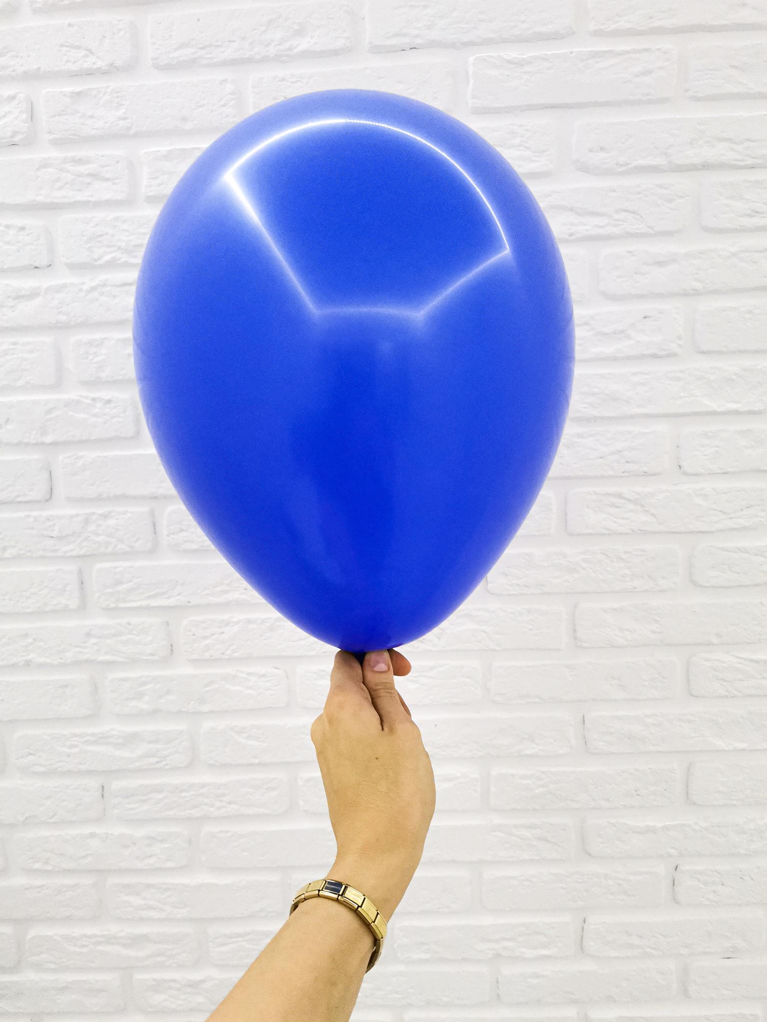 №10 Синий Гелиевый шар пастель 30см с обработкой