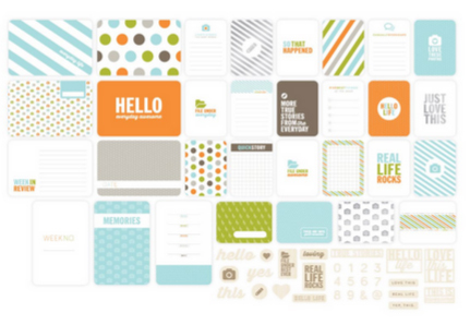 Kit набор карточек и украшений для Project Life 150шт
