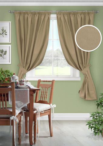 Комплект штор для кухни с подхватами Белла