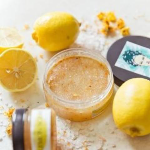 Скраб лимонный с витаминном С 110 гр