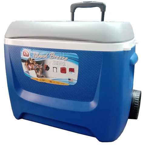 Изотермический контейнер (термобокс) Igloo Island Breeze 60 Roller (57 л.), синий