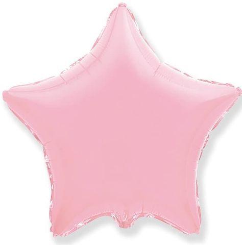 Воздушный шар звезда большая, Нежный розовый, 81 см