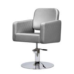 Парикмахерское кресло ОДРИ гидравлика хром, квадрат хром