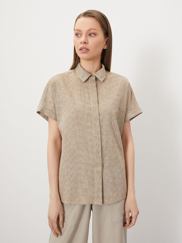 Рубашка Brenda с горизонтальной застёжкой сзади