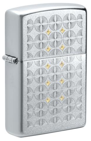 Зажигалка Zippo Sand Dollar Pattern с покрытием Satin Chrome, латунь/сталь, серебристая