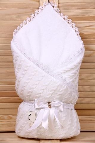 Зимний конверт-одеяло Косичка белый