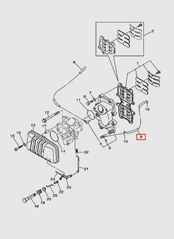Трубка L240 для лодочного мотора T40 Sea-PRO (4-8)