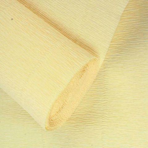Гофрированная бумага однотонная. Цвет 577 лимонно-кремовый, 180 г