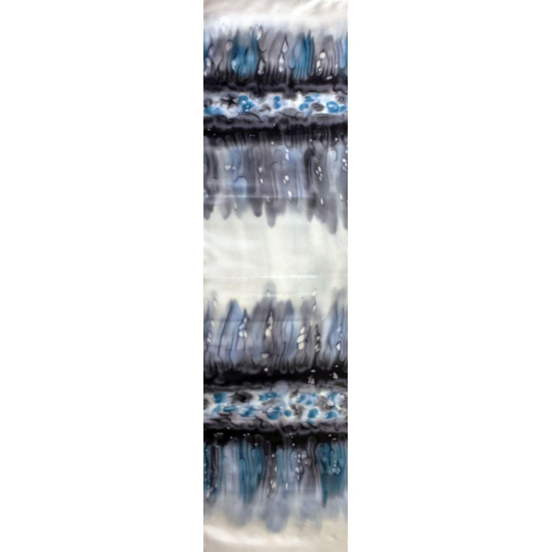 Шелковый шарф батик Льдинка
