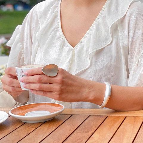 Браслет-обруч базовый сатиновый (серебристый)