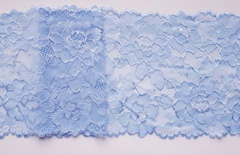 Эластичное кружево, светло-голубой, 19см (Артикул: K-EK-1002), м
