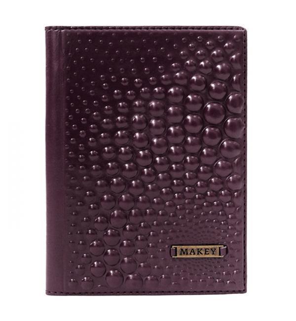 Обложка на паспорт | Bubbles | Баклажан