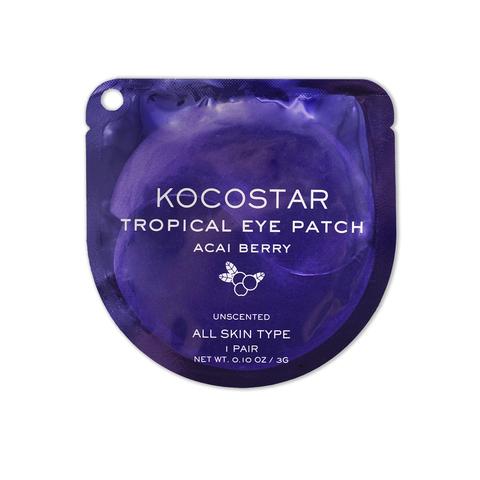 KOCOSTAR | Гидрогелевые патчи для глаз Тропические фрукты (2 патча/1 пара) (Ягоды Асаи) / Tropical eye patch Acai Berry, (3 г)