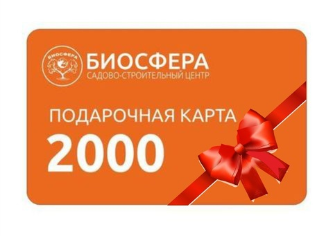 Подарочная карта 2000 рублей