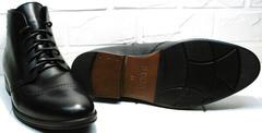 Зимние классические ботинки мужские кожа Ikoc 3640-1 Black Leather.