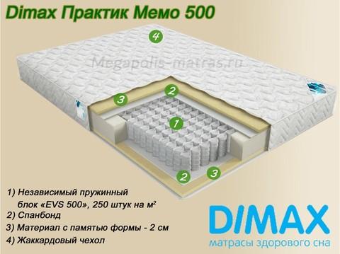 Матрас Димакс Практик Мемо 500 на Мегаполис-матрас