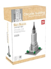 Конструктор Wisehawk & LNO Небоскрёб Крайслер-билдинг Нью-Йорк 392 деталей NO. 3326 Chrysler Building Gift Series