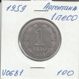 V0681 1959 Аргентина 1 песо