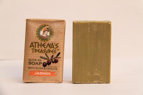 Греческое оливковое мыло Жасмин ATHENAS TREASURES