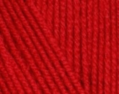 Пряжа Cotton BABY SOFT Alize красный 56