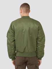 Бомбер Alpha Industries MA-1 Slim Fit Sage Green (Зеленый/Оранжевый)