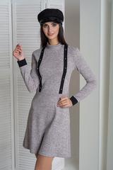 Ріка. Стильне молодіжне плаття. Пудра