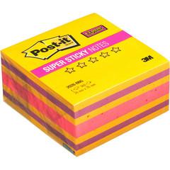 Стикеры Post-it Super Sticky Бабл гам 76x76 мм неоновые 3 цвета (1 блок, 360 листов)