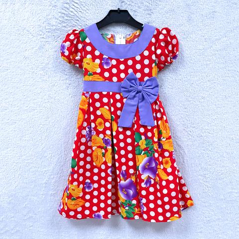 Платье хлопок девочке (2-6) 210302-OF7581