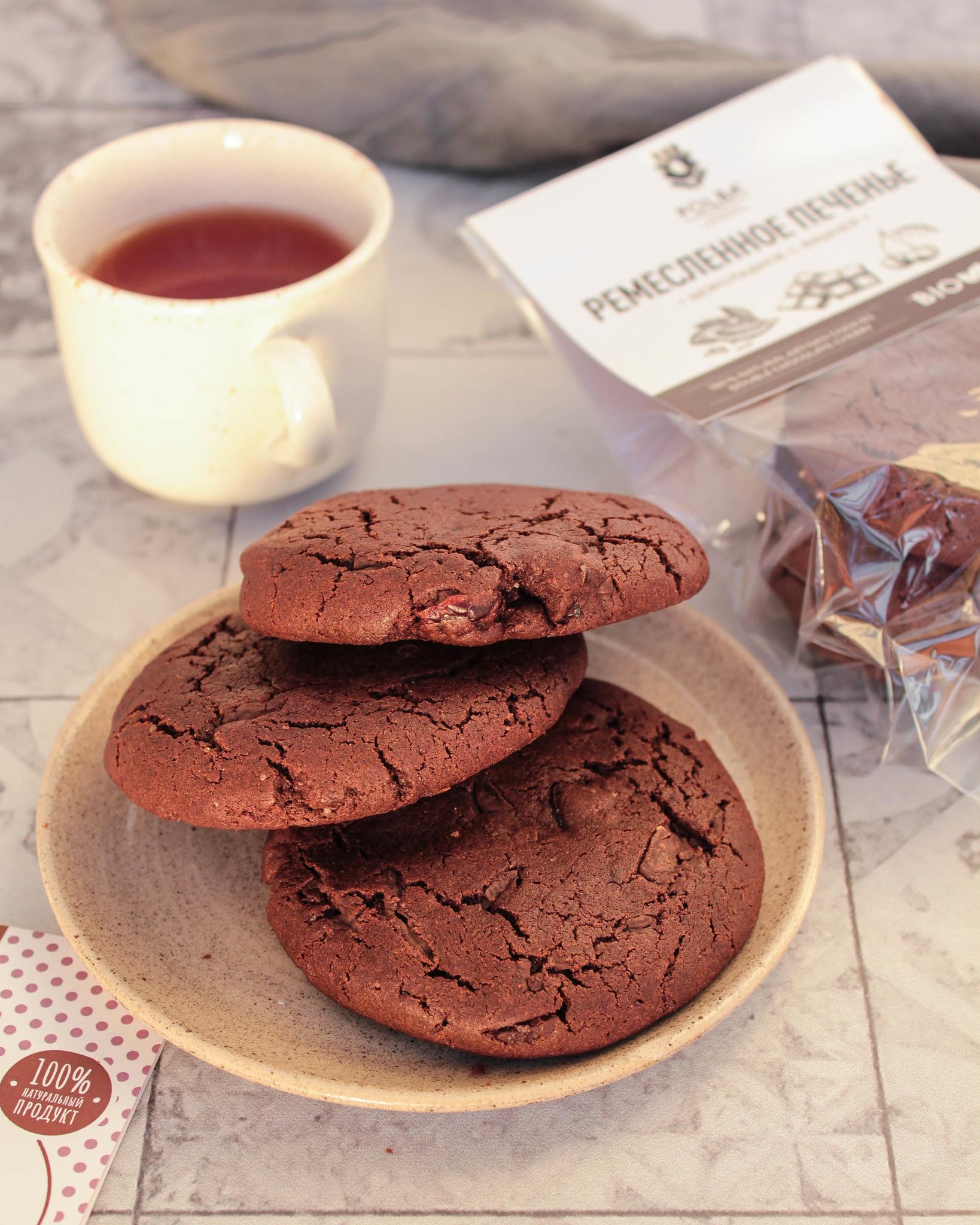 Печенье Ремесленное шоколадное с вишней, 170гр