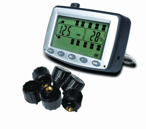Система контроля давления в шинах TM508T22U с внешними датчиками для грузовиков и прицепов. Интерфейс RS232/RS485/CAN