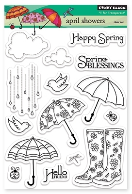 Набор штампов april showers